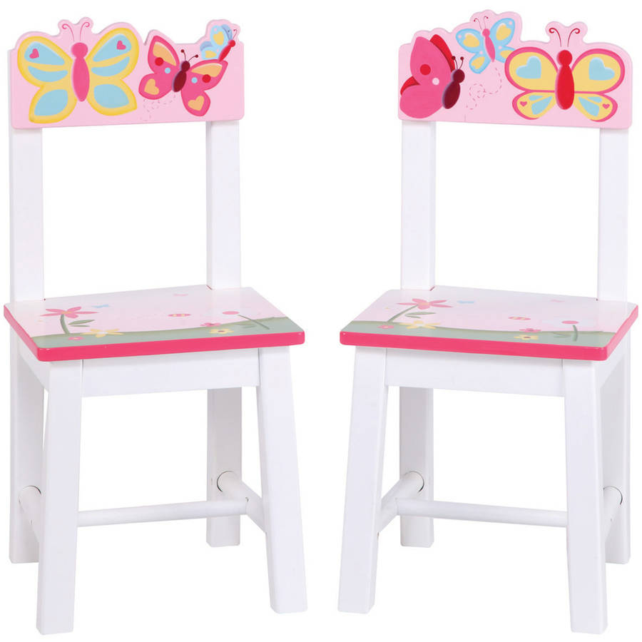 Guidecraft Butterfly Buddies Chairs, Set of 2, Pink
