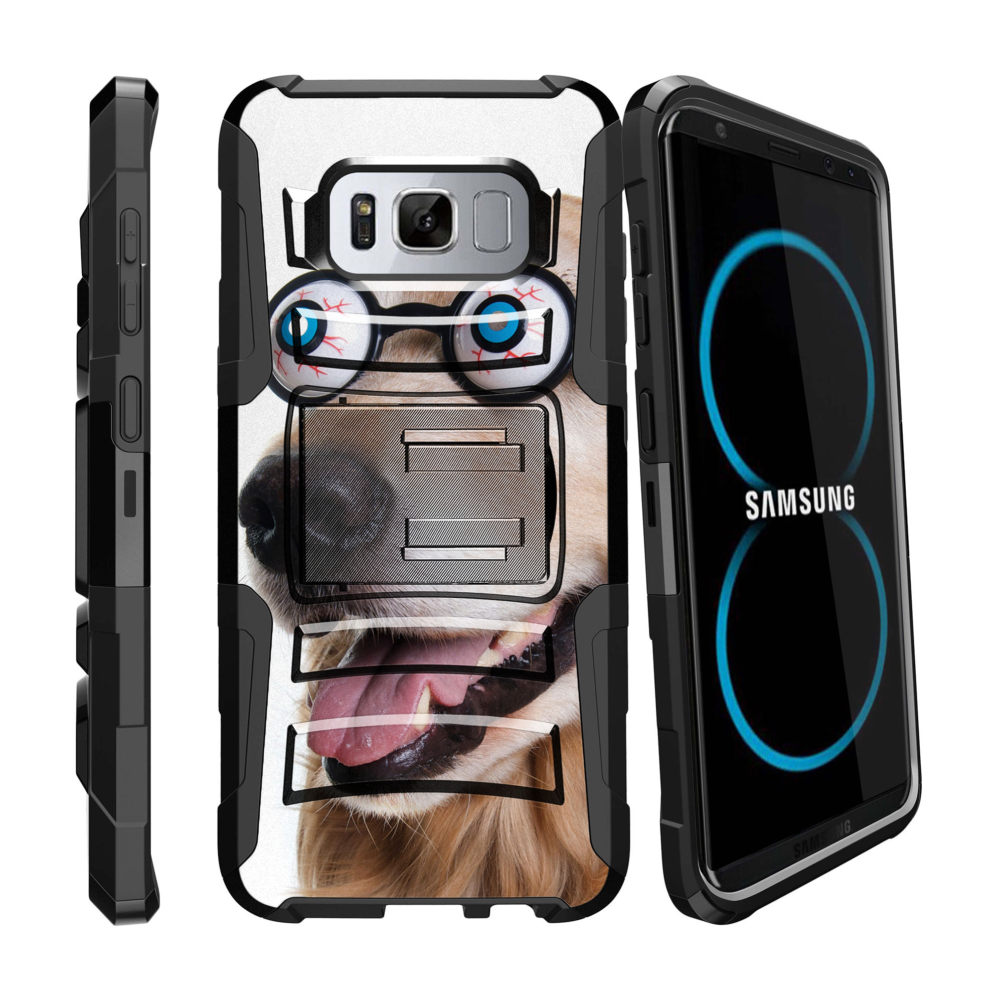 Case for Samsung Galaxy S8 Plus | S8 Plus Case  [ Clip Armor ] Heavy Duty Case with Belt Clip & Kickstand Cute Animals Collection