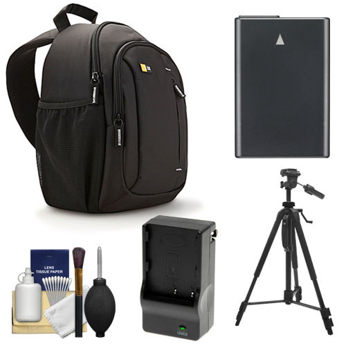 Case Logic TBC-410 Digital SLR Camera Sling Case (Black) with EN-EL14 Battery & Charger   Tripod   Kit for Nikon D3100, D3200, D5100, D5200