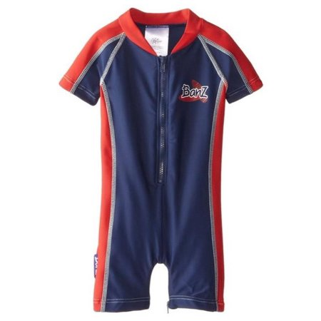 Banz BZ14-S1-NR-000 Baby Swimsuit, Navy & Red - Size 000 (Baby Banz Australien)