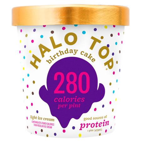 Halo Top Birthday Cake Ice Cream 1 Pint