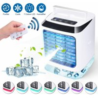 Portable Mini Air Conditioner Water Cool Cooling Fan Cooler Desktop + Remoter
