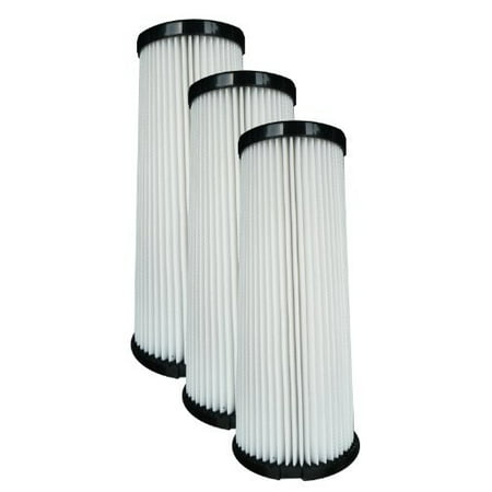 (3) Dirt Devil F1 Bagless Upright Vision Pleated HEPA filter, Breeze, Featherlite, Jaguar, Kinetix self Propelled, Scorp (Dirt Devil Jaguar Featherlite)