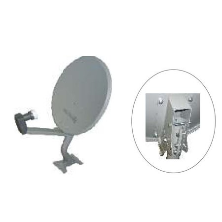 Homevision Technology DWD45CIBK 18 Inch Offset Dish in Bulk with Parts in Individual Box with 1xDual LNB