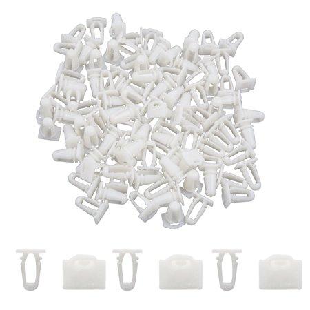 100pc 10mm Dia trou rivet plastique Attache pousser Clip Pour Auto Aile - image 1 de 2