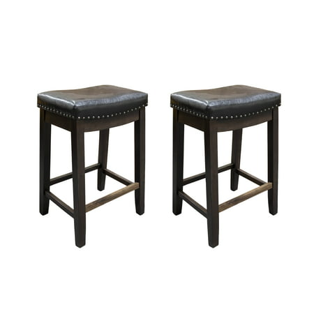 Awesome Best Master Furniture 24 Inch Cappuccino With Faux Leather Bar Stool Set Of 2 Evergreenethics Interior Chair Design Evergreenethicsorg