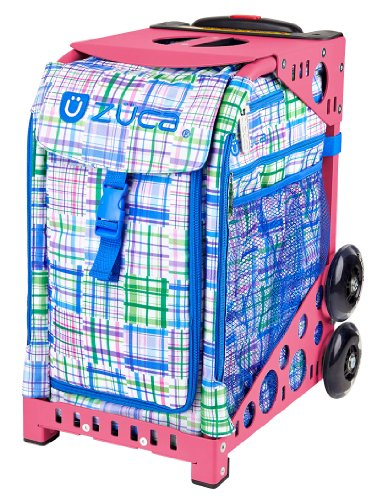 Zuca Berry Patch ice skating roller bag & Pink Frame with Flashing Wheels by ZUCA