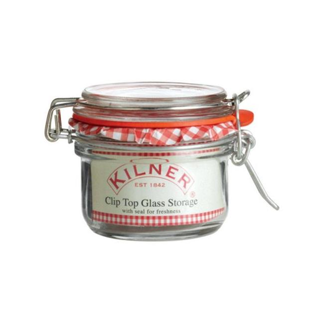 Kilner 0025496 Round Clip Top Storage Jar, 4 oz - Pack of 12