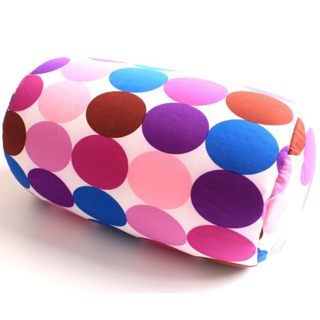Micro bead Roll Bed Pillow Car Cushion Neck Head Soft Support Back Chair Pillow Purple Circle