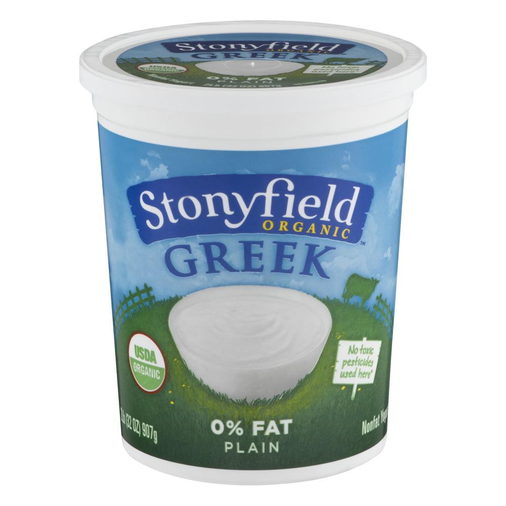 Stonyfield Organic Greek Nonfat Yogurt 0% Fat Plain, 32.0 OZ