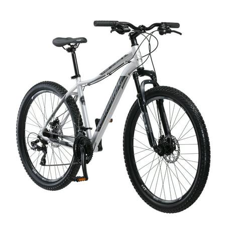 Schwinn Aluminum Comp Mountain Bike, 27.5-inch wheels, mens frame, grey All Terrain Mens Bike