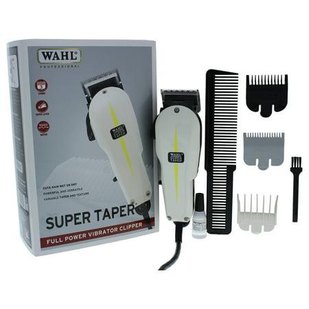 WAHL Professional Super Taper Full Power Vibrator Clipper - Model # 8400 - White - 1 Pc Clipper