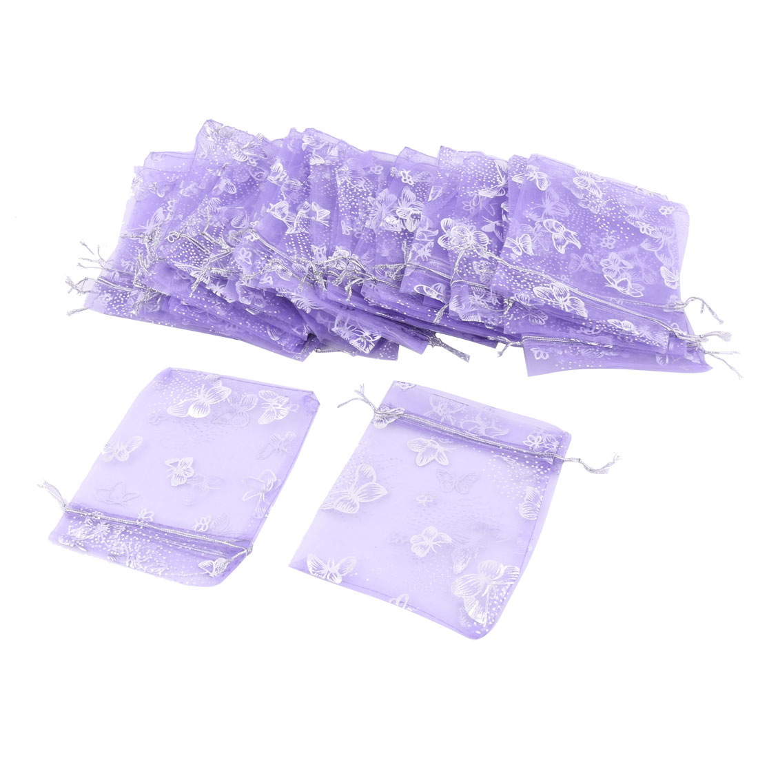 "50pcs Organza Gift Bags Jewelry Pouches Wedding Bags 5"" x 4"""