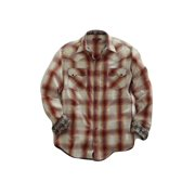 Tin Haul Western Shirt Mens L/S Snap Red Fire 10-001-0062-0602 RE