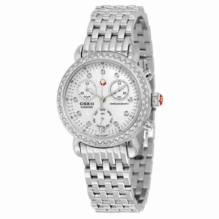 fe2cd087c Michele - Michele CSX Mother of Pearl Diamond Dial Ladies Watch  MWW03S000002 - Walmart.com