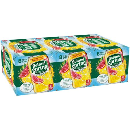 Poland Spring Sparkling Water, Pomegranate Lemonade, 12 oz. Cans (Pack of 24)