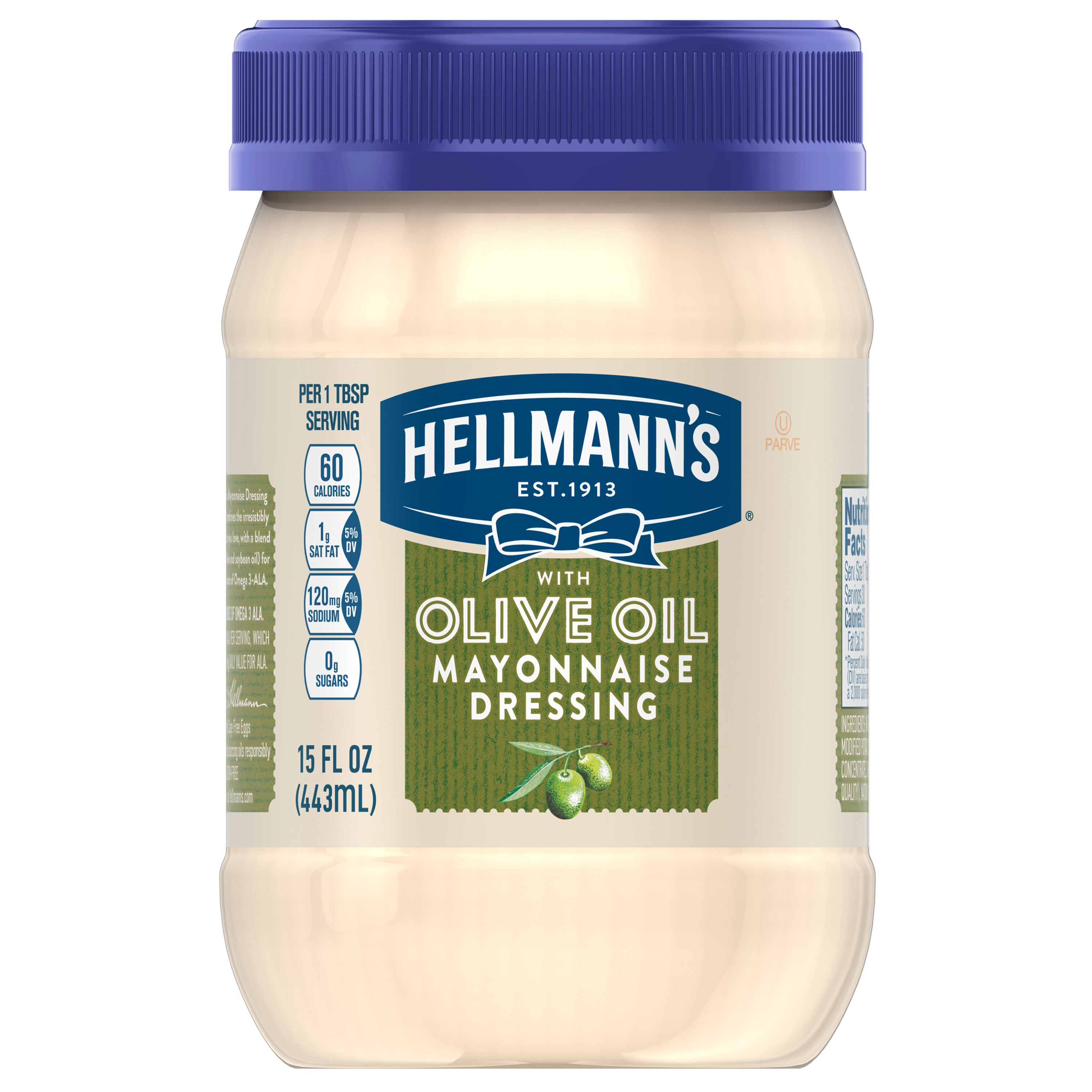 Hellmann's with Olive Oil Mayonnaise Dressing, 15 oz