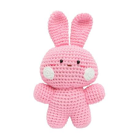 Pink Rabbit Handmade Amigurumi Stuffed Toy Knit Crochet Doll VAC
