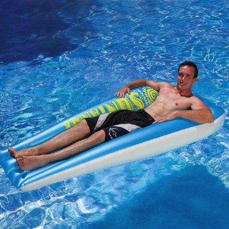 74 5 Quot Blue And White Swimming Pool Suntanner Inflatable