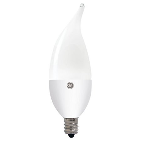 GE Lighting 30978 Dimmable LED 7-watt (60-watt Replacement), 250-Lumen Candle Light Bulb with Candelabra Base, Soft White, 1-Pack