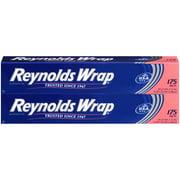 Reynolds Wrap Standard Aluminum Tin Foil, 2 Boxes of 175 Square feet (350 Total)