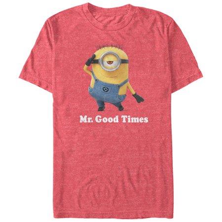 Despicable Me Men's Minion Mr. Good Times T-Shirt - One In A Minion Shirt