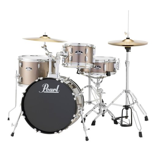 Pearl Roadshow RS584 4-Piece Drumset w/ Hardware & Cymbals - Bronze