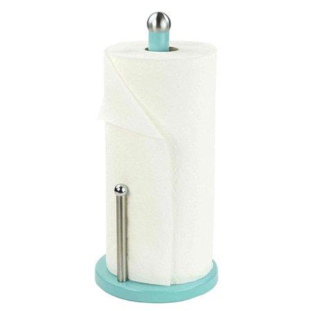 Home Basics Powder Coated Steel Countertop Single Paper Towel Holder,