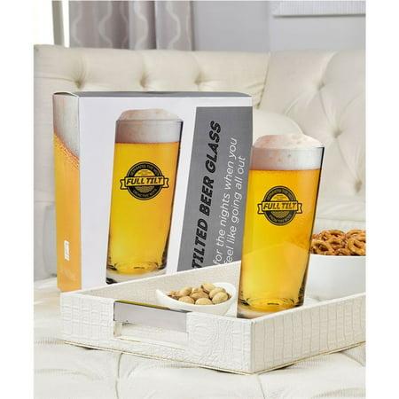 1 Tilted Beer Glass Pint Pub Bar 600 ml Soda Drink Mug Brewing Glasses Barware