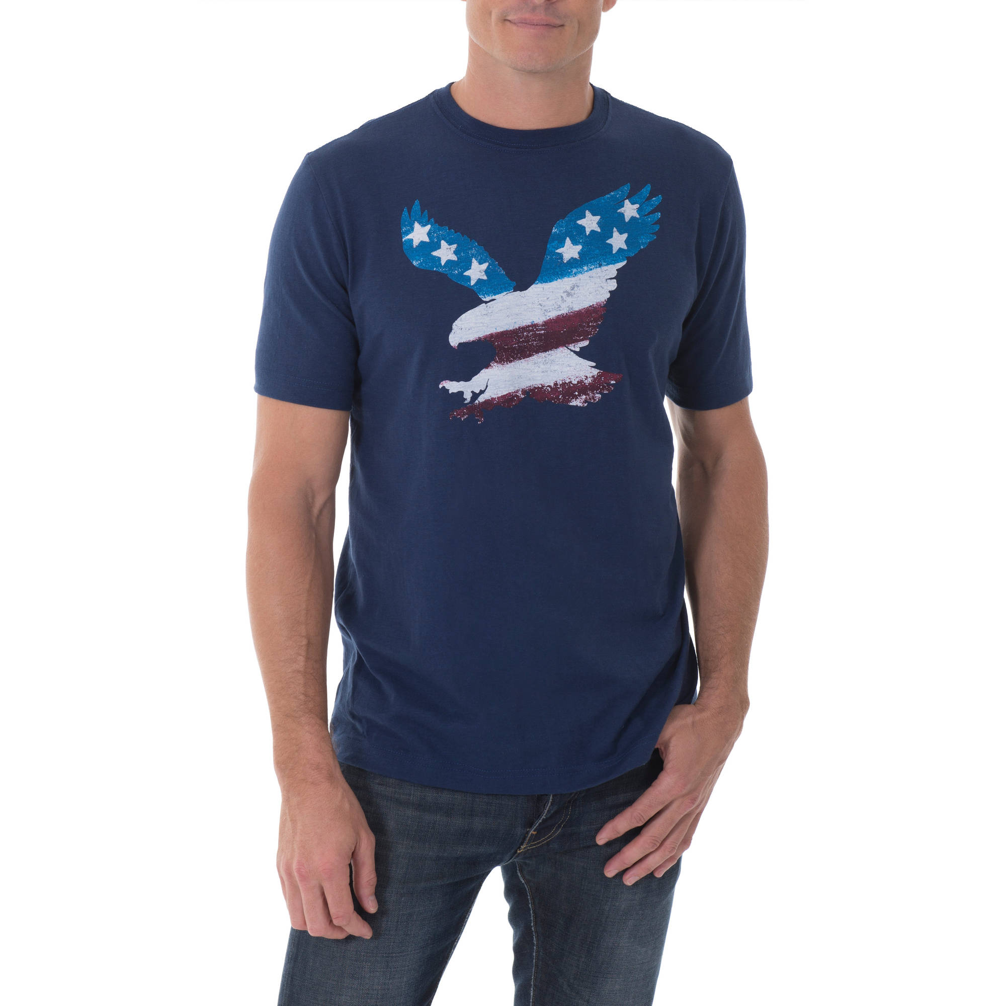 Faded Glory Big Men's All American Graphic Crew Neck Tee