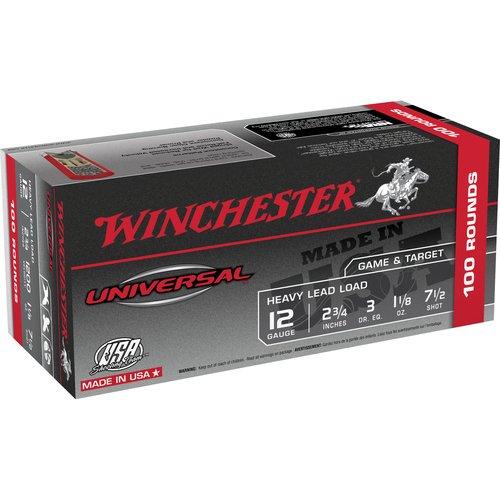 Winchester Universal 12-Gauge Shotgun Shells, 100pk