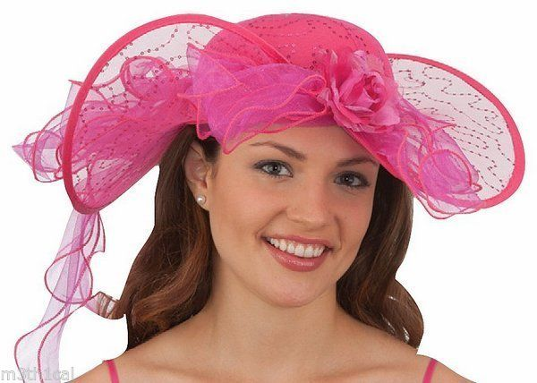 Variety of Accent Colors Available Southern Belle Ruffles Lace Ivory Veiled Boater Hat