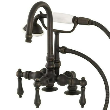 Image of American Bath Factory F200A-OB Deck Mount Bathtub Faucet In Old World Bronze