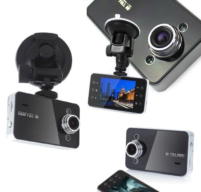 2.4'' K6000 HD Small Car Recorder Camera Dash with Night Vision Black