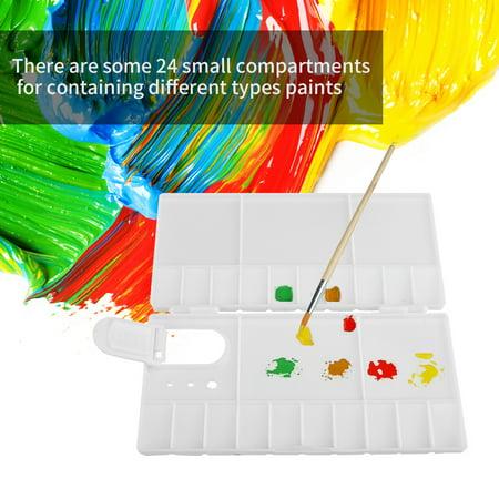 Ejoyous Foldable 24 Grids Artist Square Plastic Palette Paint Tray  Watercolor Box Oil Painting Tool , Watercolor Box,Artist Palette