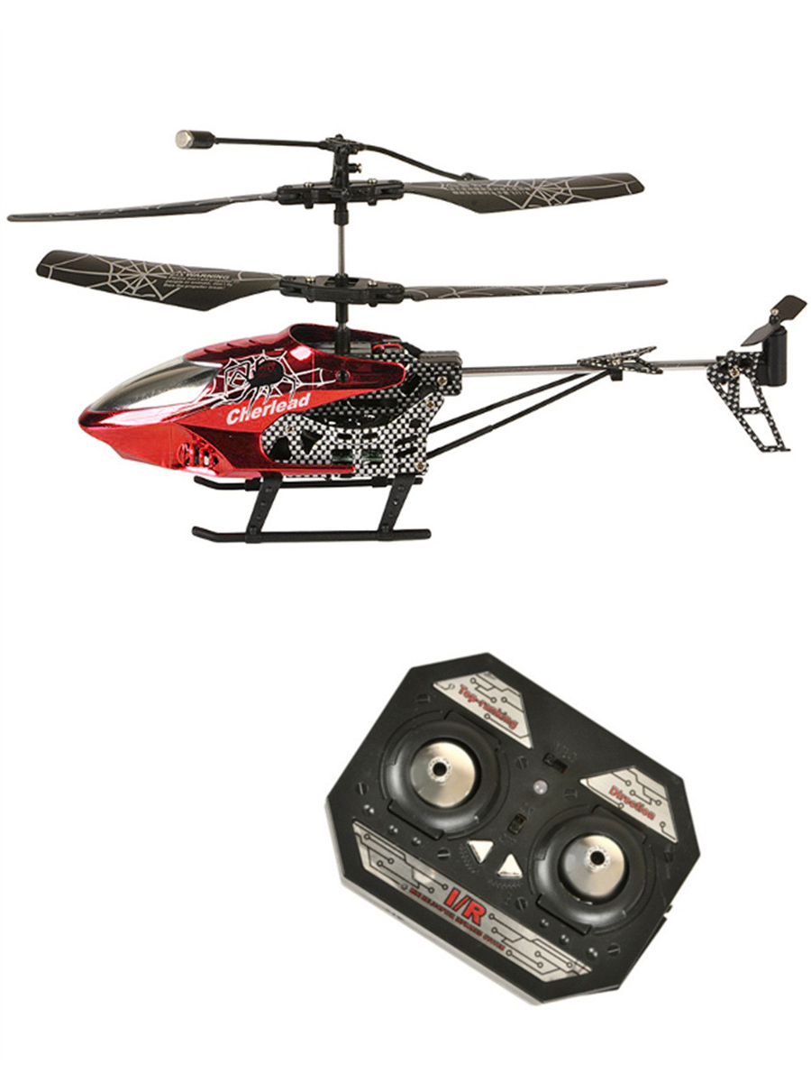 "10"" Remote Control LED Light Up Red Spiderweb Toy Flying Helicopter by Rhode Island Novelty"