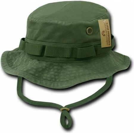 RapDom Vintage Washed Jungle Mens Boonie Hat [Olive Green - S]