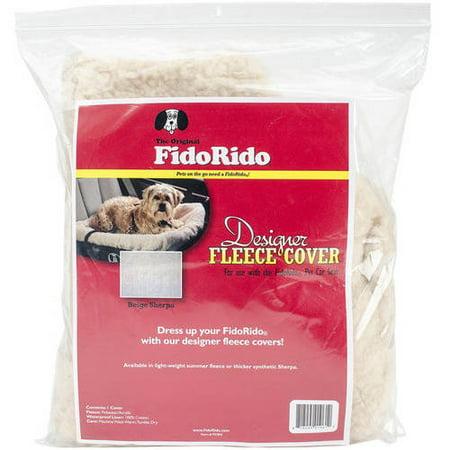 FidoRido Pet Products Designer Fleece Pet Seat Cover, Beige