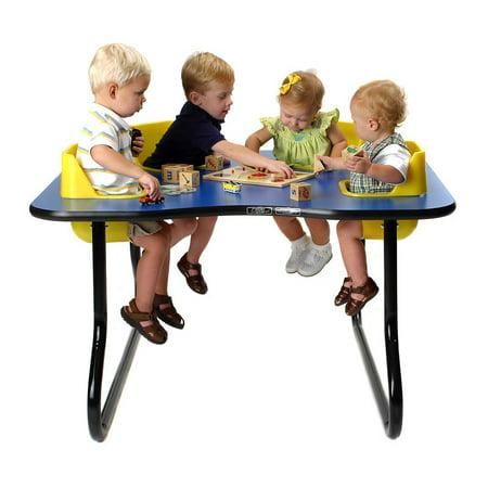 4 Seat Space Saver Toddler Activity Table Walmart Com