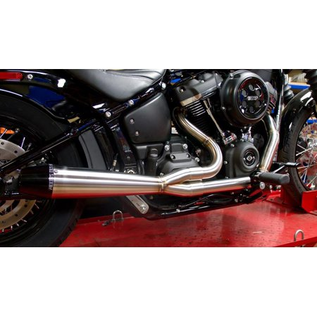 Sawicki Speed Shop FMOT-0650 M8 Softail Exhaust System - Brushed Stainless  Steel