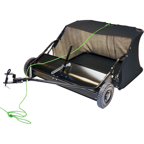 "Precision 38"" Lawn Sweeper with 12-cubic foot holding capacity"