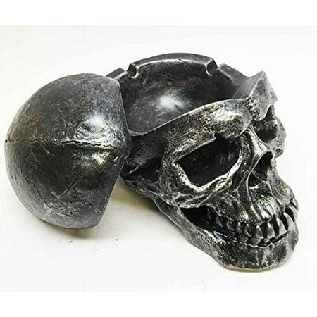 DEATH CURSE METALLICA HUMAN SKULL ASHTRAY RESIN SCULPTURE - Human Skulls