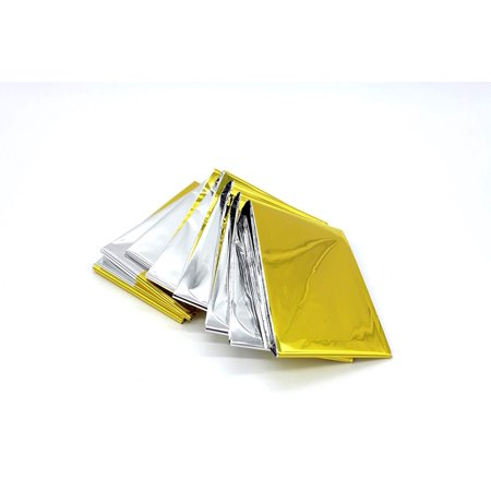 Large Emergency Mylar Thermal Blanket--Multi-purpose Survival Rescue Blanket Gold/Silver dual-sided Best for Outdoor Camping Hiking Include in Your First Aid Kit and Your