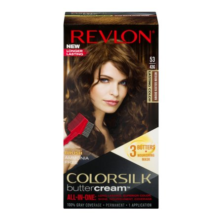Revlon colorsilk buttercream hair color, 53 medium golden brown - Gold Hair Color Spray