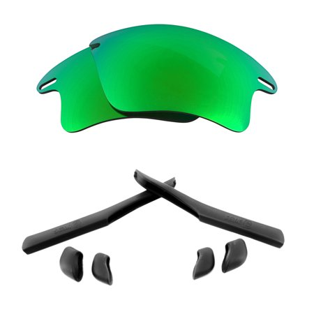 Lenses Kit Compatible with OAKLEY FAST JACKET XL Polarized Green & (Fast Jacket Xl Lenses)