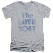 Trevco Love Boat-Distressed - Short Sleeve Adult 30-1 Tee - Heather, Small