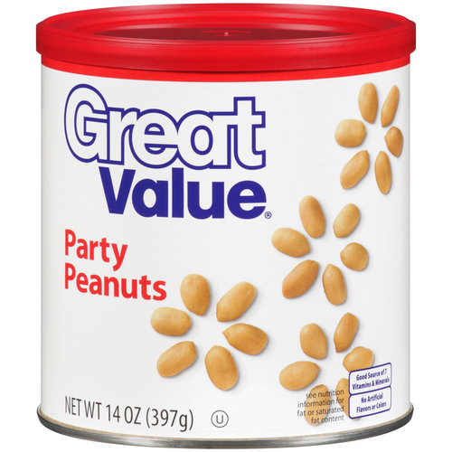 Great Value Party Peanuts, 14 oz