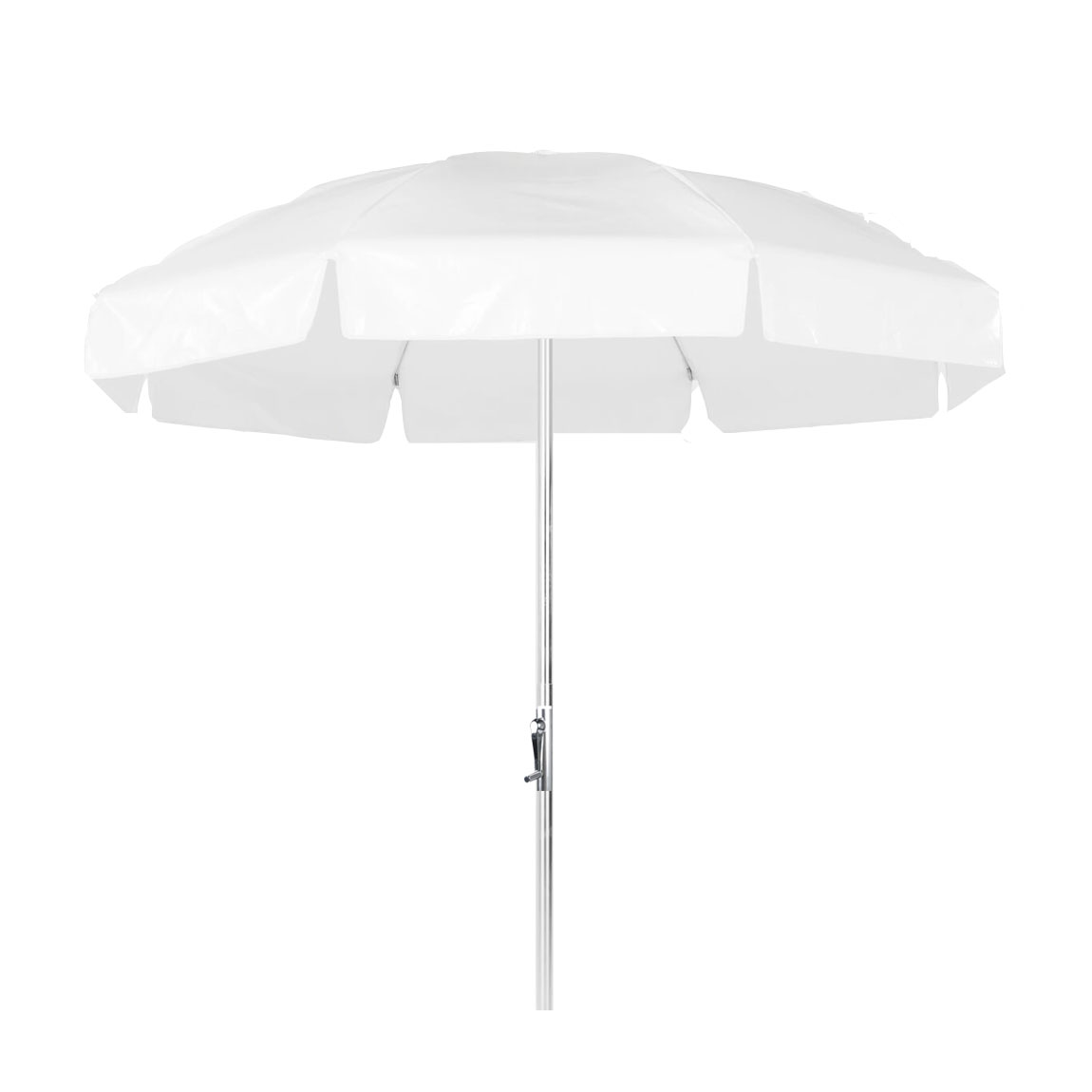 7 5 Ft Commercial Grade Steel Patio Umbrella With Vinyl Canopy