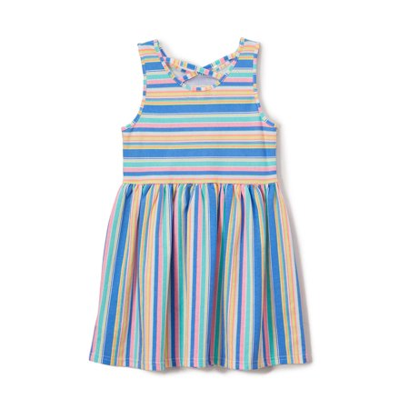 Rainbow Dresses For Toddlers (Freestyle Revolution Cross Back Rainbow Striped Dress (Toddler)