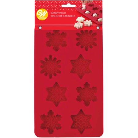 Silicone Candy Mold-Snowflake 8 Cavity (3 Designs) - image 1 de 1